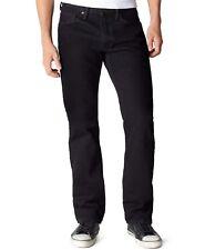 $134 LEVI'S Men 505 BLACK REGULAR FIT STRAIGHT LEG DENIM PANTS JEANS 34 W 30 L