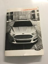 2013 Fusion Owners Manual 2013 Model Year