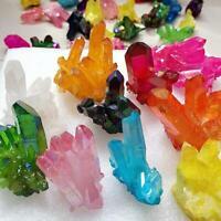 Natural Multi-Color Crystal Quartz Citrine Cluster Mineral Specimen Healing