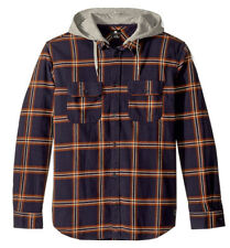 R1296 - DC Shoes Runnels Flannel Shirt Hoodie - NWT Mens Large Multi #30074-C8