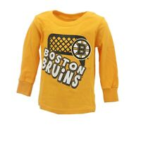 Boston Bruins Official NHL Apparel Infant Toddler Size Long Sleeve Shirt New