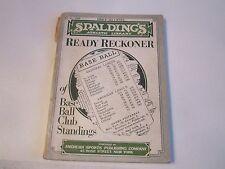 1935 SPALDING'S ATHLETIC LIBRARY MANUAL - BASEBALL CLUB STANDINGS - TUB B