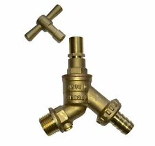 1/2 Inch Lockshield Outside Garden Tap With Removable Key and Double Check Valve