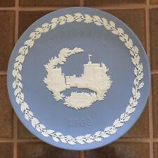 Wedgwood Pale Blue And White Jasper 1969 Christmas Windsor Castle Plate