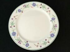 "Set of 8 Floral Green Rim Oneida AVA 11"" Dinner Plates- FREE SHIPPING!"