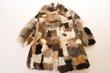 Vintage Caravelle French Rabbit Fur Jacket WOMENS 6 winter medium coat patchwork