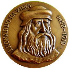 Art / Renaissance / Famous Italian Artist Leonardo da Vinci Bronze Medal / N112
