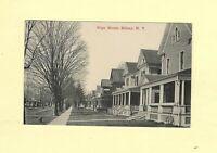 NY Sidney 1914 antique postcard HOMES ON RIVER ST New York to Poultney VT