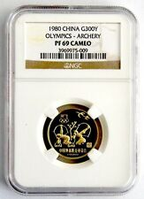 China 1980 10g gold coin Olympics archery G300Y NGC PF69 Cameo