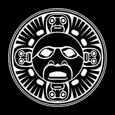 Tribal Sun/Tiki Vinyl Window Decal Bumper Sticker