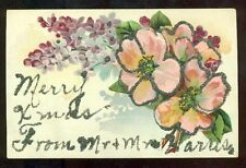 Merry XMas from Mr & Mrs. Harris Vintage Postcard