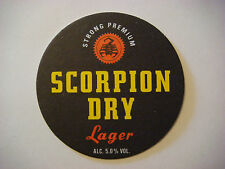 Beer Bar Coaster ~*~ CAMERONS Brewery SCORPION Dry Lager ~*~ Hartlepool, England