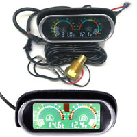Lcd Screen Water Temperature & Voltmeter Gauge for 12v/24v power Car Truck