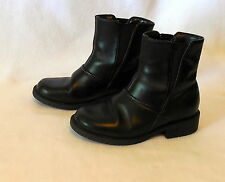 BASS youth 11.5M black LEATHER BOOTS child #Y274