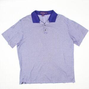 Ralph Lauren Purple Label Mens Polo Shirt XL Houndstooth Mercerized Cotton Italy