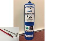 R22 Refrigerant R-22, Air Conditioner, Large 28 oz. Can, No Taper Needed, Kit R