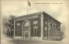 Andover MA Savings Bank Old Postcard