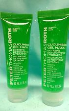 *2* 1oz PETER THOMAS ROTH Cucumber Gel Face Mask Detox Hydrating Calming Cooling