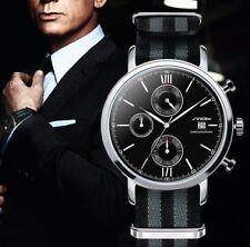 Montre Homme Sinobi James Bond 007 Spectre Date TISSU Chronograph Etanche +BOITE