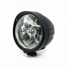 "5"" Black H4 55W E-marked Headlight For Harley Davidson Sportster Dyna Softail"