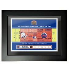 "NY Mets Shea Stadium 1969 World Series Ticket Photo (Size: 14"" x 18"") Framed"