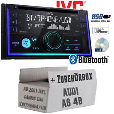 JVC Autoradio für Audi A6 4b ab2001 CD Bluetooth Android Apple USB Einbauset