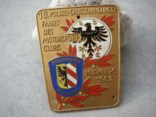ADAC POLIZEI MOTORSPORTCLUB NÜRNBERG 1963 Autoplakette Emailleplakette Car Badge