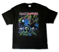 Iron Maiden Final Frontier Tour 2010 Album Cover Mens Black T Shirt New Official