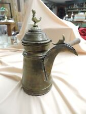 ANTIQUE  BRASS ISLAMIC ARABIC DALLAH TURKISH COFFEE TEA POT Sweet Note