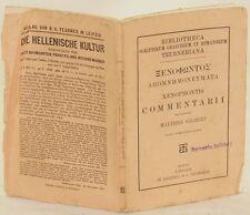 SENOFONTE COMMENTARII COMMENTARIO GILBERT WALTHER 1907 LETTERATURA CLASSICA