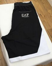 EMPORIO ARMANI EA7 Black/White 100% Cotton Short Back Pocket Logo Size S-XL BNWT