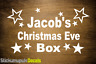 Christmas Eve Box Personalised Vinyl Name Sticker / Decal, Kids gift 16 Colours