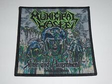 MUNICIPAL WASTE SLIME AND PUNISHMENT WOVEN PATCH