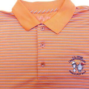 Bobby Jones Mens Large  2014 Pinehurst Golf Polo Shirt US Open Championships