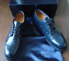 FABI Luxury Navy Leather Shoes Size 11 (IT 44) NEW Made in Italy