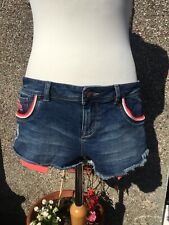 Womens Vintage Superdry Daisy Dukes 32inch Hot Pants Shorts