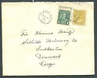 CANADA MULTIPLE FRANKING FOREIGN DESTINATION COVER TO SNEKKERSTEN, DENMARK