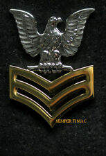 1ST CLASS PETTY OFFICER E-6 GOOD CONDUCT COAT EPAULET HAT PIN UP US NAVY VET USS