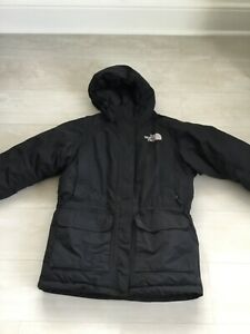 THE NORTH FACE black goose down padded coat size L