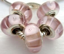 5PCS Silver Single Core Murano Lamp Glass Beads fit European Charm Bracelet A072