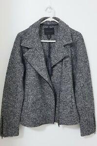 TAHARI Women's NEW Moto WOOL Blend Blazer Jacket Size M / AU 8-10