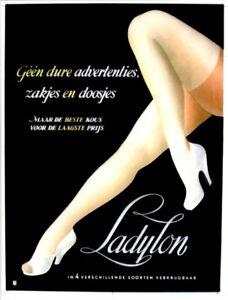 Original vintage poster LADYLON SEXY STOCKINGS c.1945