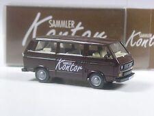 TOP: Wiking Werbemodell VW T3 braun Sammlerkontor mit Nummernschild in OVP
