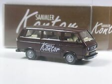 Top: Wiking werbemodell VW t3 Braun sammlerkontor con matrícula en OVP