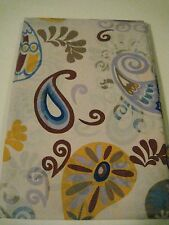 PEVA Vinyl Paisley Shower Curtain Gold Lilac Purple Turquoise See Through NEW