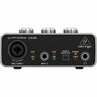 U-PHORIA USB Audio Interface Recording Microphone Instrument Equipment UM-2 New