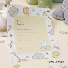 Baby Miffy Theme Invites & Envelopes - 1st Birthday / Baby Shower