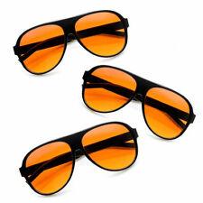 3X Pairs Pilot Blue Blocker Sunglasses Amber Lens Driving Glasses Eyewear Shades