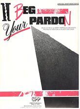 KON KAN-I BEG YOUR PARDON-PIANO/VOCAL/GUITAR SHEET MUSIC 1988 RARE OUT OF PRINT!