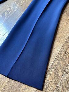 Exquisite New NWT Carolina Herrera Ink Navy Wide Leg Silk Pants Size 4